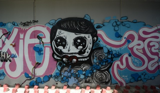Hong Kong: Graffiti Wall of Fame
